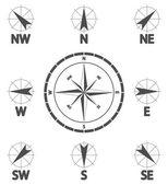 Dirección del viento — Vector de stock