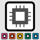 Electronic chip icon — Vector de stock