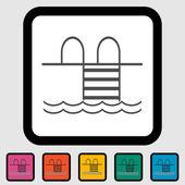 Icono de piscina. — Vector de stock