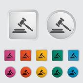 Icono de subasta — Vector de stock