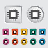 Electronic chip icon 2 — Stock Vector