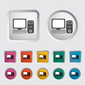 Computer icon 2 — Stock Vector
