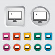 Monitor icon. — Stock Vector
