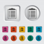 Clipboard icon. — Stock Vector #17374883