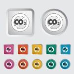 CO2 icon — Stock Vector #17374893