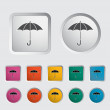 Umbrella icon. — Stock Vector #17375387