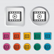 Video icon. - Stock Vector