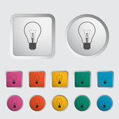 Bulb icon. — Stock Vector