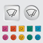 Car icon wiper. — Stock Vector