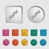 DNA icon. — Stock Vector