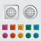 Globo do mundo simples 2 — Vetorial Stock