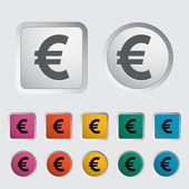 Icona euro. — Vettoriale Stock