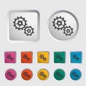 Gear icon. — Stock Vector