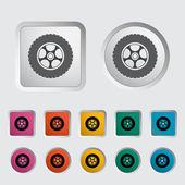 Icon car wheel. — Stock Vector