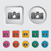 Icon vintage camera. — Stock Vector