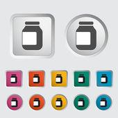 Jar icon. — Stock Vector