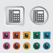 Icono de teléfono oficina. — Vector de stock