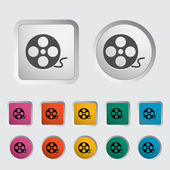 Icon reel of film — Stock Vector