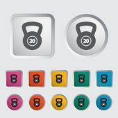Sport gewicht einzelnes symbol. — Stockvektor