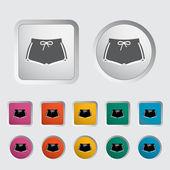 Sport shorts enda ikon. — Stockvektor