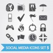 Social media icons set 5 — Stock Vector