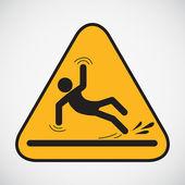 Wet floor caution sign. — Stock Vector