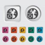 Download file single icon. — Stock Vector #18680335