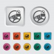 Car Steering Wheel icon. — Stock Vector