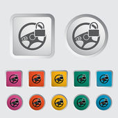 Car Steering Wheel icon. — Stock vektor