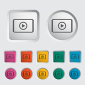 Video player icon. — Stock Vector