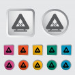 Warning triangle single icon. - Stock Vector
