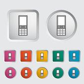 携帯電話 1 つのアイコン. — ストックベクタ
