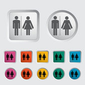 WC single icon. — Stock Vector