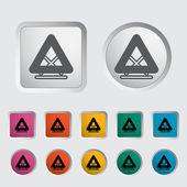 Warning triangle single icon. — Stock Vector