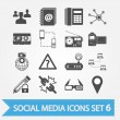 Social media icons set 6 — Stock Vector