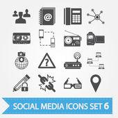Social media icons set 6 — Stock Vector