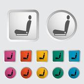 Icon heated seat. — Stock Vector