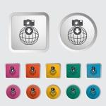 Photo download single icon. — Stock Vector #21143275