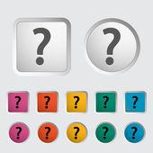 Question mark single icon. — Stock Vector