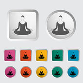 Yoga icon. — Vettoriale Stock
