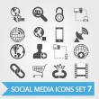 Social media related vector icons 7 — Stock Vector