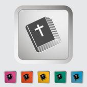圣经的单个图标. — 图库矢量图片