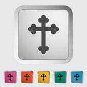 Cross single icon. — Stock Vector