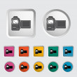 Video camera single icon. — Stock Vector