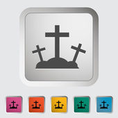 Calvary single icon. — Stock Vector