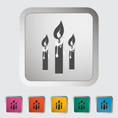 Candles single icon. — Stock Vector
