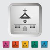 Church single icon. — Stock Vector