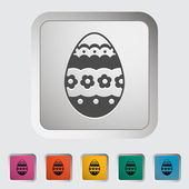 Easter Egg single icon. — Stock Vector