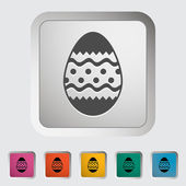 Easter Egg single icon. — Stock Vector