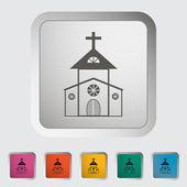 Kyrkans enda ikon. — Stockvektor